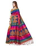 e vastram Women's Mysore Art Silk Saree with Blouse Piece (Multicolour, Free Size) 4