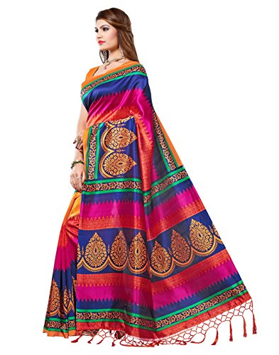 e vastram Women's Mysore Art Silk Saree with Blouse Piece (Multicolour, Free Size) 2