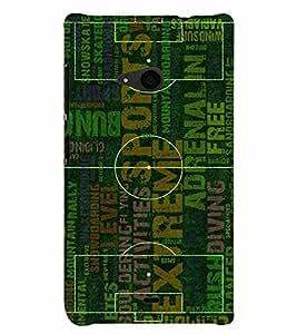 PrintVisa Sports Football Ground 3D Hard Polycarbonate Designer Back Case Cover for Nokia Lumia 535