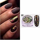 Prevently creative glitter fiocchi di alluminio specchio magico effetto polveri paillettes nail art Shinning pigmento manicure Dust