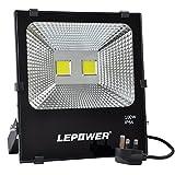 LEPOWER 100W LED Floodlight, Super Bright Outdoor Work Lights, 500W Halogen Bulbs Equivalent, IP66 Waterproof Outdoor Lights, 6500K, 9000lm (Daylight White)