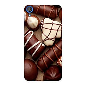Impressive Chocolate Sweets White Brown Back Case Cover for HTC Desire 820