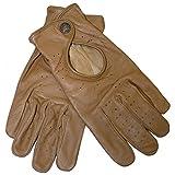 German Wear Driving Autofahrer-Handschuhe Lederhandschuhe, Größe:10=XL, Farbe:Karamell