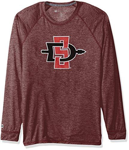 Ouray Sportswear Herren T-Shirt NCAA San Diego State Aztecs Electrify Long Sleeve Tee, Cardinal Heather, Größe M - Aztec-herren Shirt