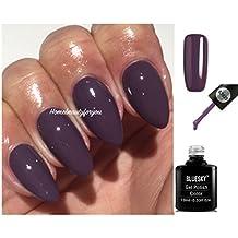 BLUESKY 63925Herbst Winter Mauve lila Nagellack-Gel UV-LED-Soak Off Plus 2LuvliNail Shine Wipes.