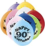 """9"""" Latex Assorted Happy Birthday Balloons, Pack of 10"""