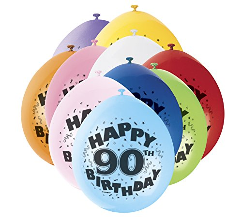 s, Happy Birthday sortiert 10 Stück (Party Supplies Zum 90. Geburtstag)