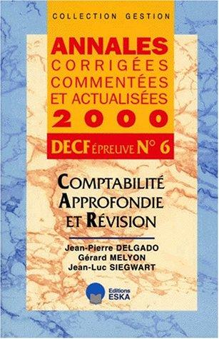 Compta.approfondie révision decf 6 2000