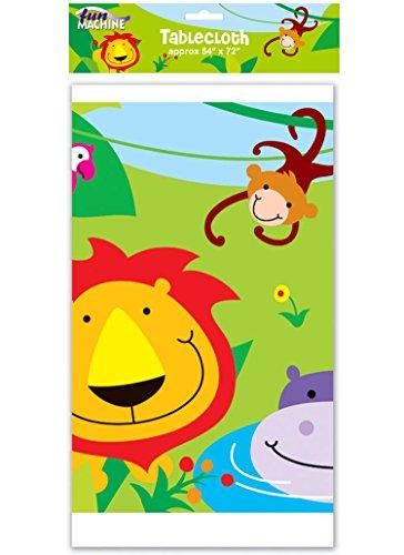 Tapa de la mesa de la selva - 137,16 cm x 182,88 cm mantel plástico impreso Animal