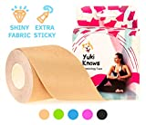 YukiKnows® Bande de kinésiologie SPORT Imperméable Tape - BEST Maintien Physio pour les genoux, les chevilles, les épaules et les muscles | Hypoallergénique pour la peau avec médical adhésif | Rouleau