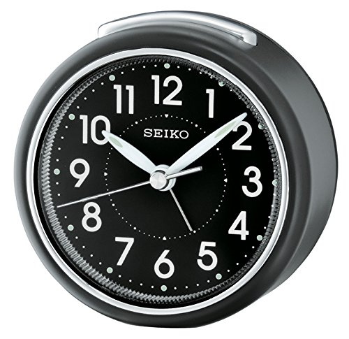Seiko Analog Clock Black Plastic QHE125K Best Price and Cheapest