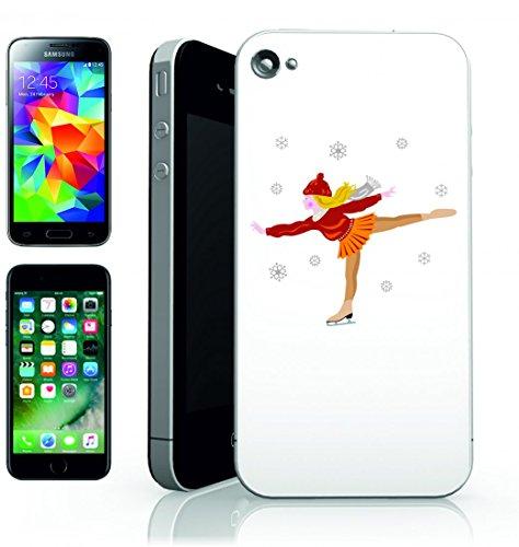 Smartphone Case Skater pattinaggio di figura della ragazza di skate pattini da ghiaccio-Slim Fit Jung della vita stile di fitness per Apple Iphone 4/4S, 5/5S, 5C, 6/6S, 7& Samsung Galaxy S4, S5, S
