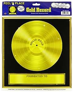 Generique goldene schallplatte wanddeko - Goldene wanddeko ...