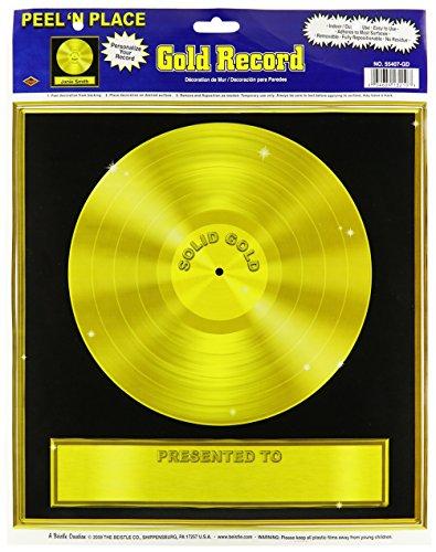 Preisvergleich Produktbild Generique - Goldene Schallplatte - Wanddeko