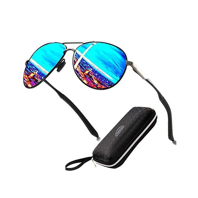 85bf42c037 Perfectmiaoxuan Lunettes de Soleil polarisées pour Hommes Femme métal Grand  Cadre/Cyclisme Le Golf Conduite ...