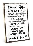 TypeStoff Holzschild mit Spruch - NIMM DIR Zeit - im Vintage-Look mit Zitat als Geschenk und Dekoration zum Thema Liebe und Achtsamkeit (19,5 x 28,2 cm)