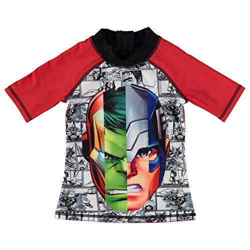 Character 2-TLG Schwimmset Kleinkinder Junior Jungen Bademode Baden Kostüm Tenue De Plage - Rot - Marvel Avengers, 158 (Kleinkind Avengers Kostüm)