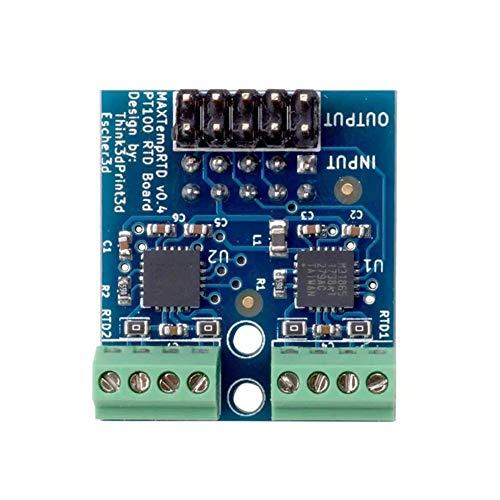 ZhengFei Junta Módulo Hija PT100 Permitir Dos sensores de Temperatura PT100 Que se adjuntará sobreel dúo Ethernet Impresora 3D de Piezas y La DuetWifi stronge