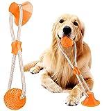 VZATT Hundespielzeug mit Saugnapf, Hund Molar Bite Spielzeug Saugnapf Hundespielzeug, Multifunktions Hundespielzeug Ball für Hund Zahnreinigung Spielzeug, für Backenzahn, Zahnreinigung, Spielen