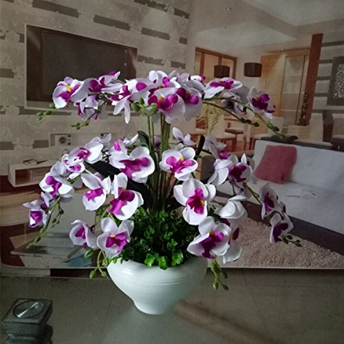 LIXIAOXIN Butterfly Orchid Topfpflanzen Dekoration False Simulation Weiß