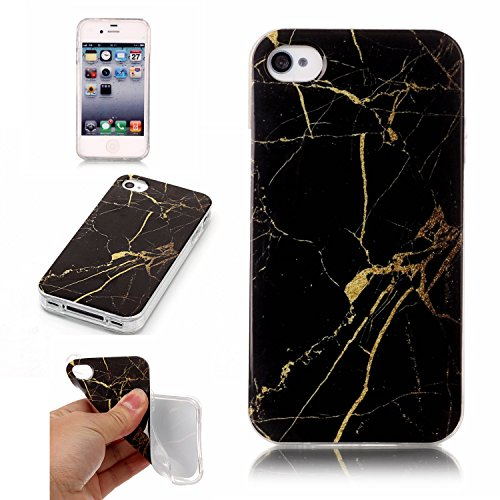 SsHhUu Funda iPhone 4s, Ultra Delgado  Patrón de Mármol  Flexible de Caucho  Suave b7b6b5a96de6