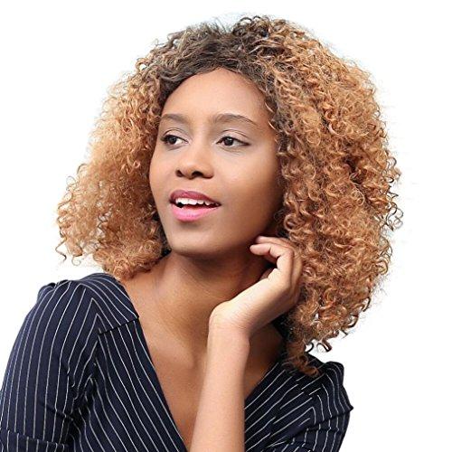 Fulltime (TM)–Shaggy sintético resistente al calor rizado afro peluca de pelo de...