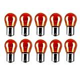 10x PY21W 12V 21W BAU15S BLINKER BLINKLEUCHTEN ORANGE AMBER LAMPEN FALTSCHACHTEL 10 STÜCK Jurmann® LongLife & Erschütterungsfest