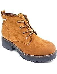 Cestfini Ladies Botines Medio Plataforma, Zapatos Cordones Moda para Mujer