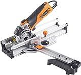 VonHaus 600W Compact Circular Mitre Saw Kit Guide / Rail 85mm Blade Diameter Motor 27mm Max Cutting Depth Angled Cross Cut Laser