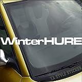 Winterhure Frontschiebenaufkleber Winterauto Sticker