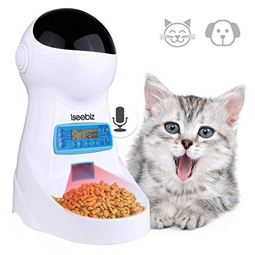 Comedero Automatico Gatos Iseebiz 3 Litro Comedero
