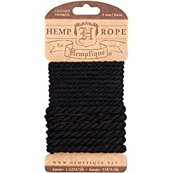 Hemptique cáñamo Cuerda Set,, 4 mm/6 mm