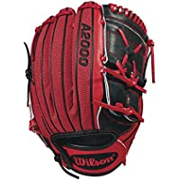"""Wilson 2018 A2000 Ma14 GM Pitcher's Gloves - Left Hand Throw Black/Red, 12.25"""""""