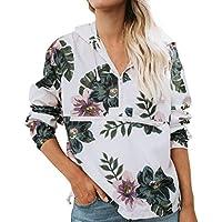 Geili Bluse Damen,Mode Frauen Herbst Langarm Floral Print Zipper Shirt Bluse mit Kapuze Sweatshirt Damen Blumenmuster... preisvergleich bei billige-tabletten.eu