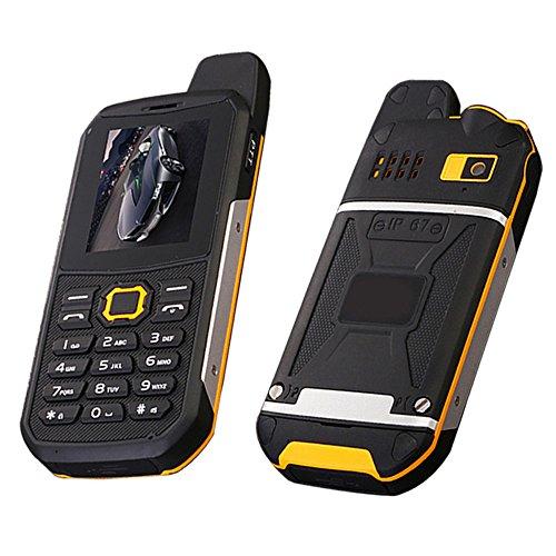 faststep1801F8entsperrt Handy Walkie Talkie Wasserdicht IP67Quad Band Dual SIM Telefon unterstützt Telefon zu Telefon Laden Wandern Camping (Quad-band Dual Handy Entsperrt Sim)