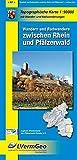Topographische Karten Rheinland-Pfalz, Wandern und Radwandern zwischen Rhein und Pfälzerwald (Freizeitkarten Rheinland-Pfalz 1:50000 /1:100000)