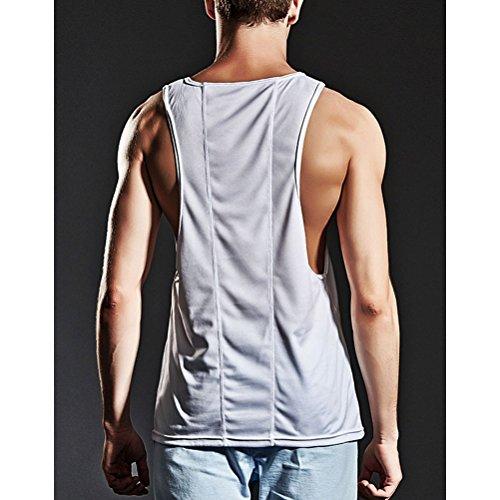 Zhhlaixing Herren Sportbekleidung Mens Summer Sportswear Stringer Workout  Holiday Gym Vest Father Boyfriend Gift White ...