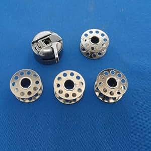 TinkSky Durable domestique Machine à coudre métal canette avec 4 bobines pour Brother /Singer /Janome /Nouvbase