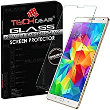 Techgear protector de pantalla para Samsung Galaxy Tab S de 8,4 pulgadas (Serie SM-T700/SM-T705). Protector de pantalla de vidrio templado.