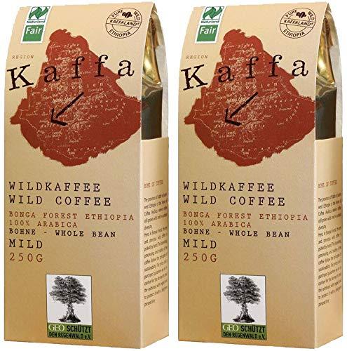 Image of Original Food Kaffa Wild-Kaffee mild ganze Bohne 2er-Pack (2x 250g) bio vegan fair Arabica MildBohx2