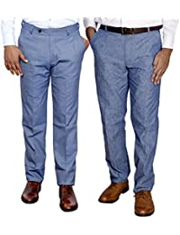 Indistar Combo Offer Mens Formal Trouser (Pack Of 2) - B01JRW7HVQ