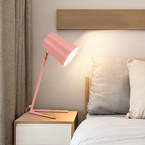Tisch- & Nachttischlampen-WXP Schreibtischlampe Computer Schreibtischlampe Industrielle Wind Tischlampe Desktop Schreibtischlampe Taste Schalter Tischlampe Art und Weise Nachttischlampe -WXP ( Farbe : Pink )