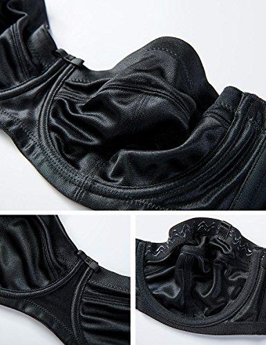 Delimira Damen Trägerloser BH - Bügel,weichen Cups,abnehmbare Trägern Schwarz