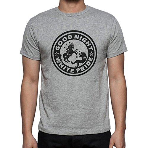 Good Night White Pride Unicorn Herren T-Shirt Grau