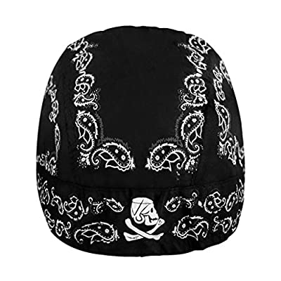 Cycling Hat Men Women Sports Headwear Retro Bandana Quick Dry Skull Pirate Sun Cap UV Protection Running Beanie Bike Motorcycle Magic Headband Youth Under Helmet Summer Stretchy Basketball Turban Gift from JIAHGUK