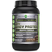 Amazing Muscle Whey Protein Ultra Concentrate & Isolate Blend Chocolate 2 lbs