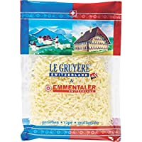Reibkäse 'Le Gruyère & Emmentaler', schweizer Milchprodukt von MIFROMA - 120g, Käse gerieben, ideal für feine Pasta oder zum überbacken