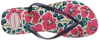 Women Havaianas Flip Flops Slim Floral