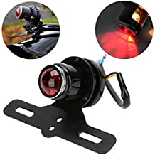 Placa de Licencia LED luz trasera–Hucha redonda lámpara de freno para Harley Bobber Chopper, por eclear
