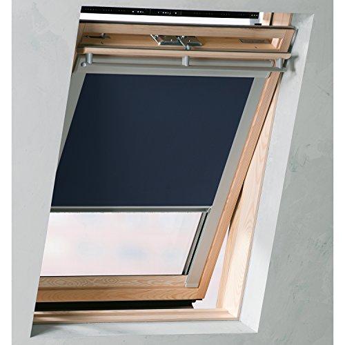Sol Royal SolReflect D12 Dachfensterrollo Verdunkelung + Thermo + Hitzeschutz für Velux 206 alle Modelle Dunkel-Blau